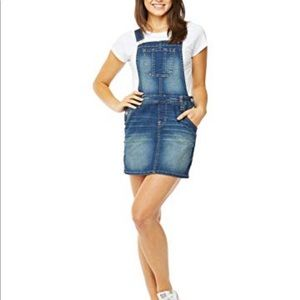 Denim Skirt Dress Overalls